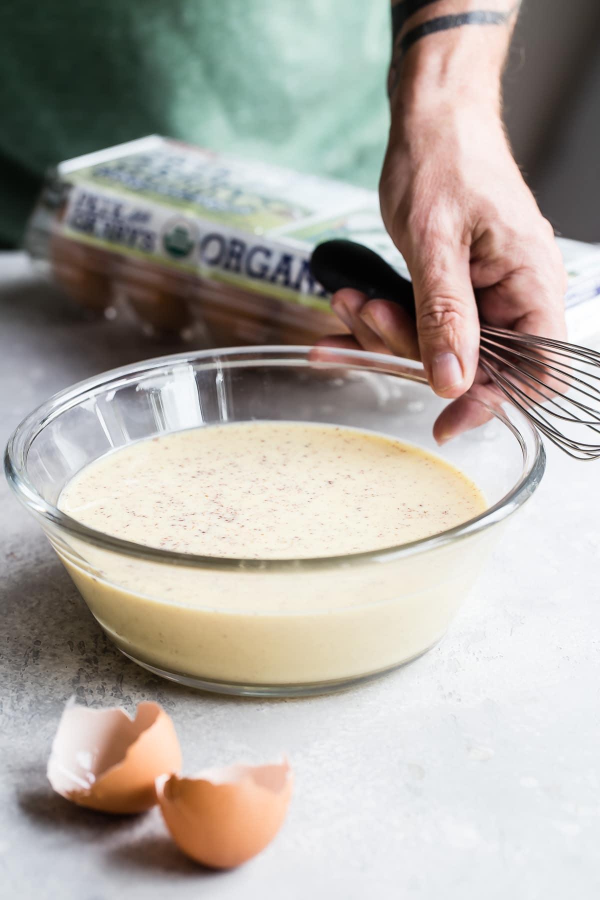 Eggnog french toast batter