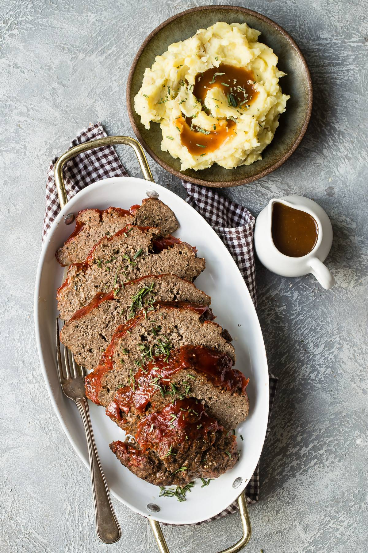 instant pot meatloaf with potatoes and gravy