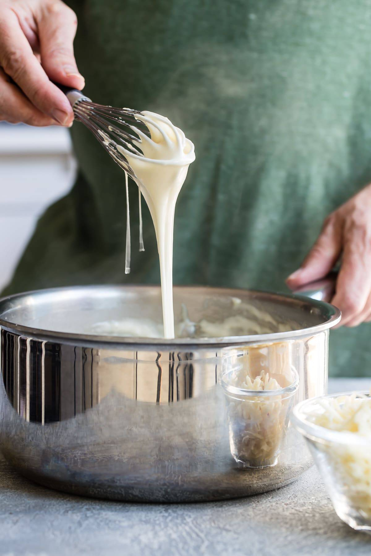 melted cheese for fondue
