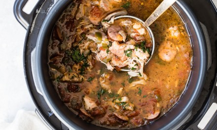 Chicken Andouille Sausage Pressure Cooker Soup