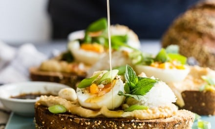 Asian Inspired Hummus Breakfast Toast
