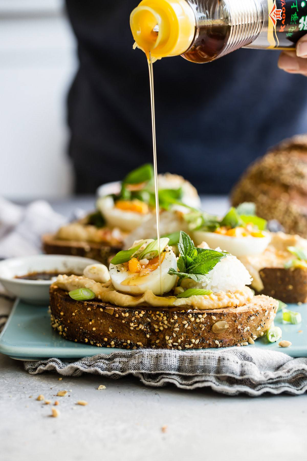 awesome Asian inspired breakfast toast