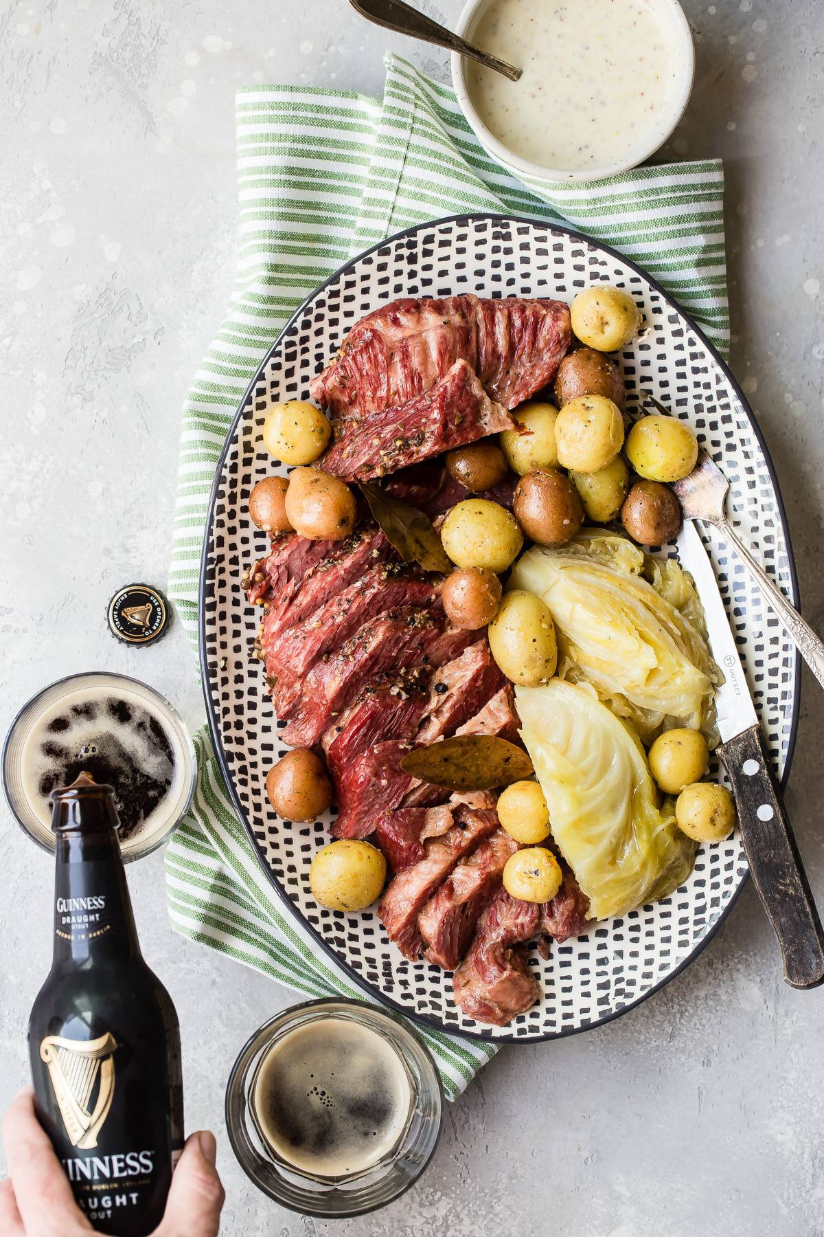Corned Beef Instant Pot Recipe with Mustard Whiskey Sauce