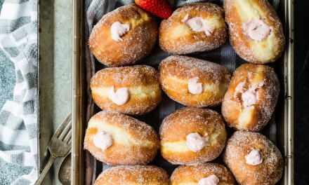 Strawberry Cream Filled Donuts