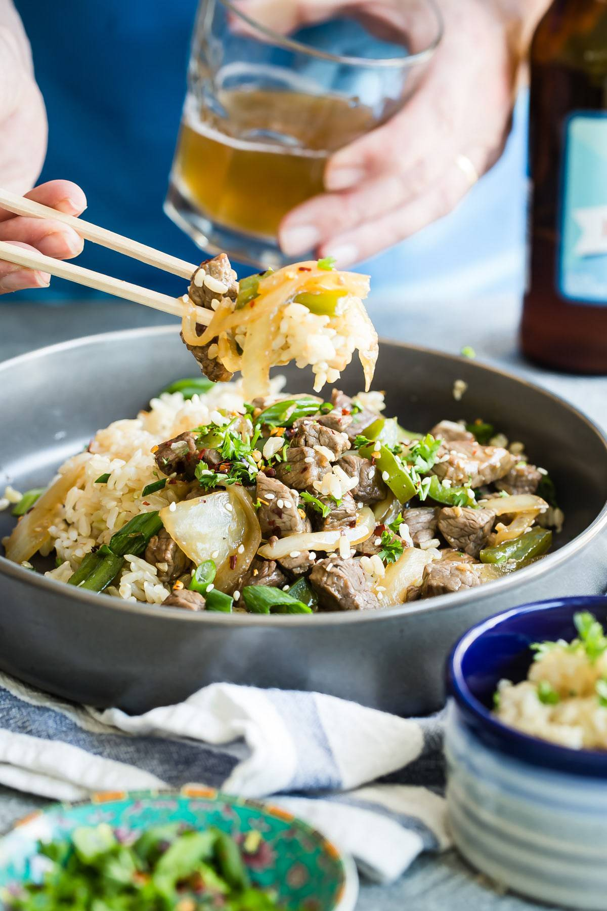 chopsticks with pepper steak recipe