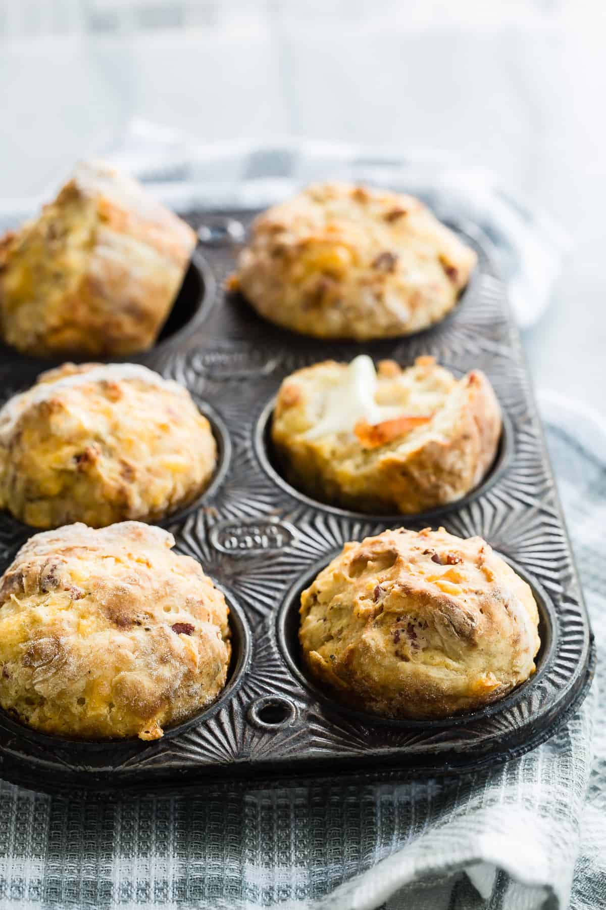 Bacon Cheddar Mini Soda Bread Recipe