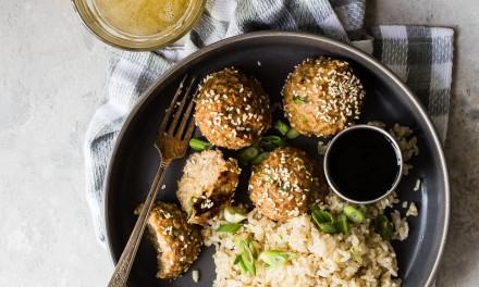 Oven Baked Asian Turkey Meatballs