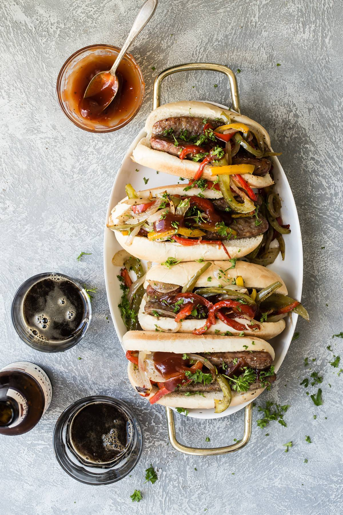 One Pan Sausage and Peppers Sandwich