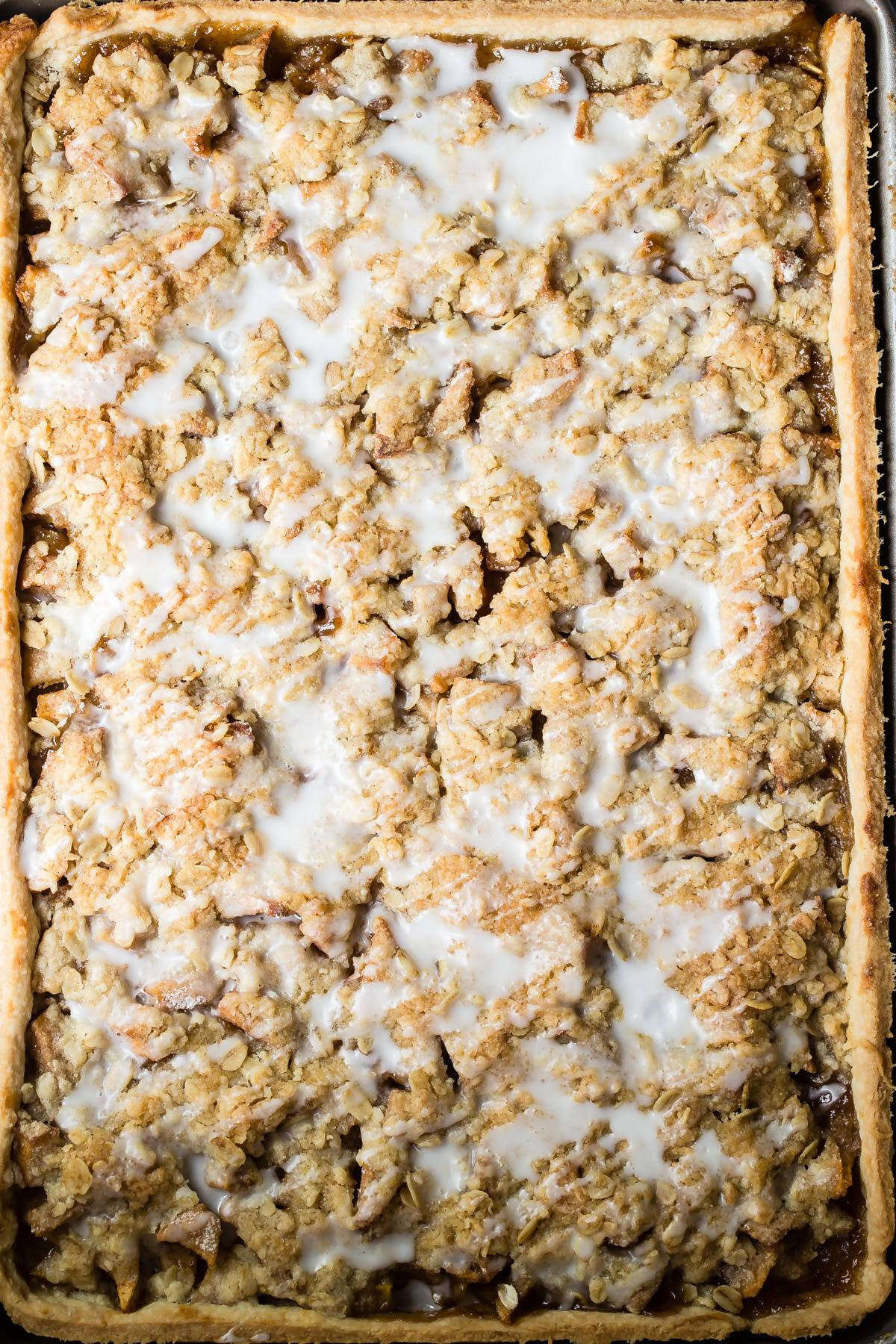 Apple slab pie square