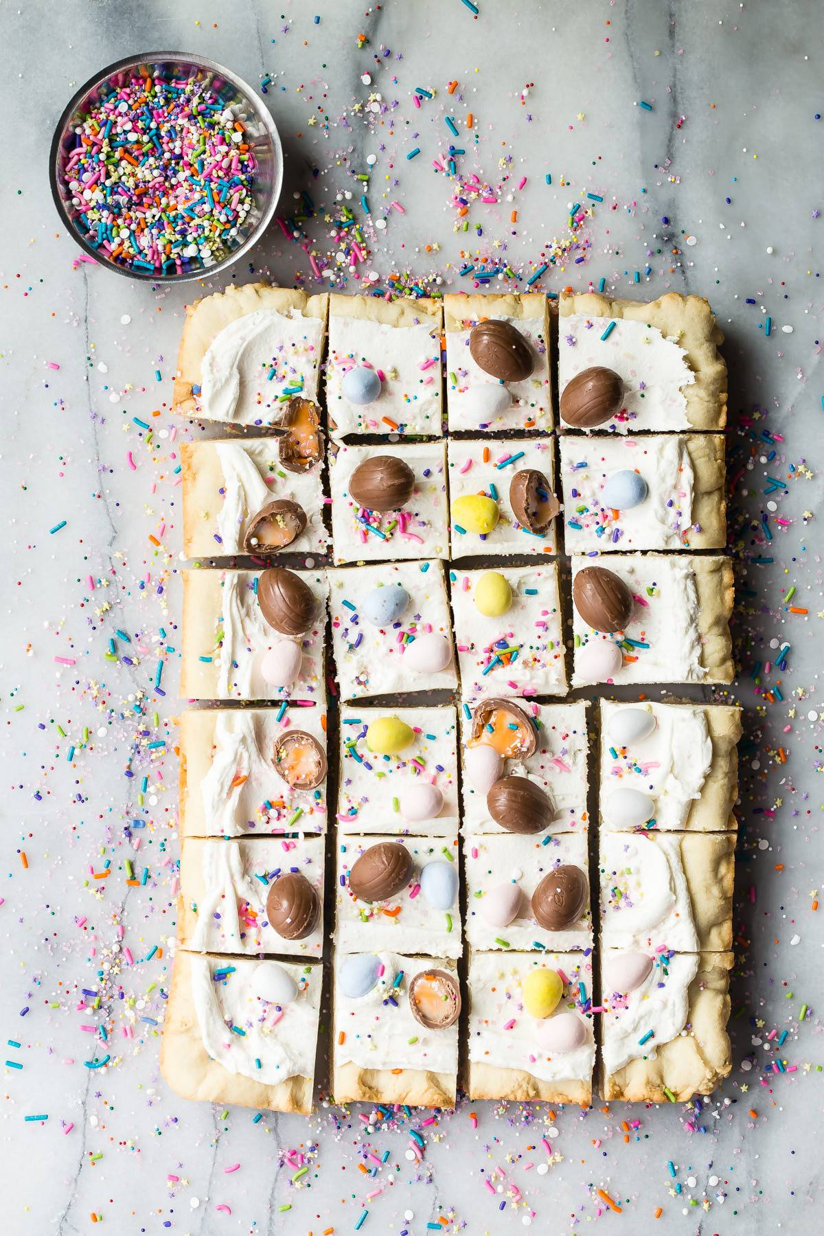 sugar cookie bars with sprinkles