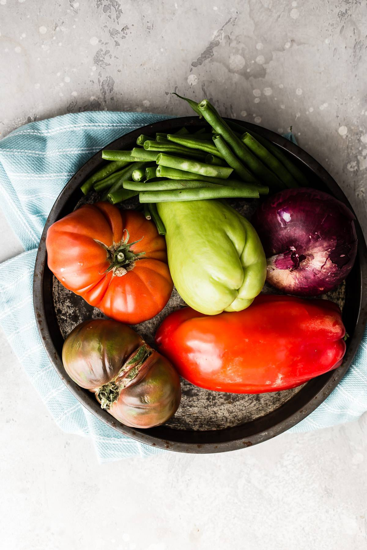 various vegetables on a plate