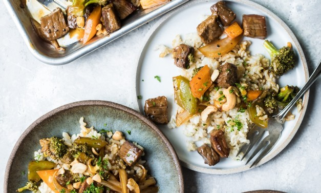 Black Pepper Steak and Veggie Sheet Pan Dinner
