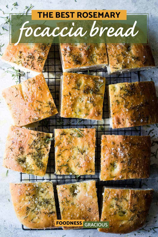 homemade Rosemary Focaccia bread