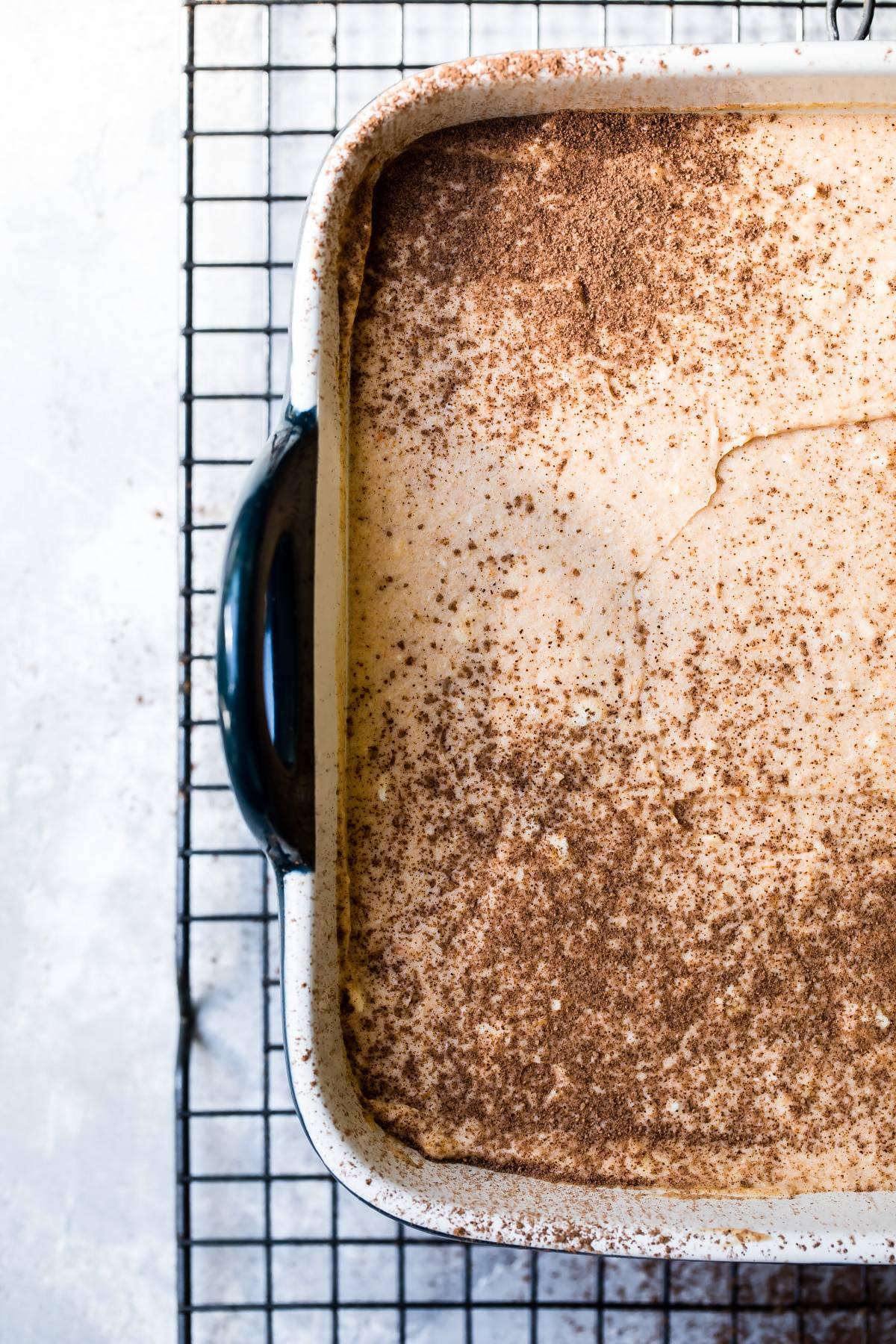 tiramisu in a baking dish