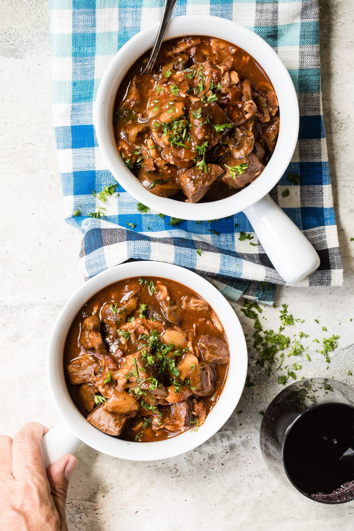 Beef Stew with Mushrooms In The Instant Pot
