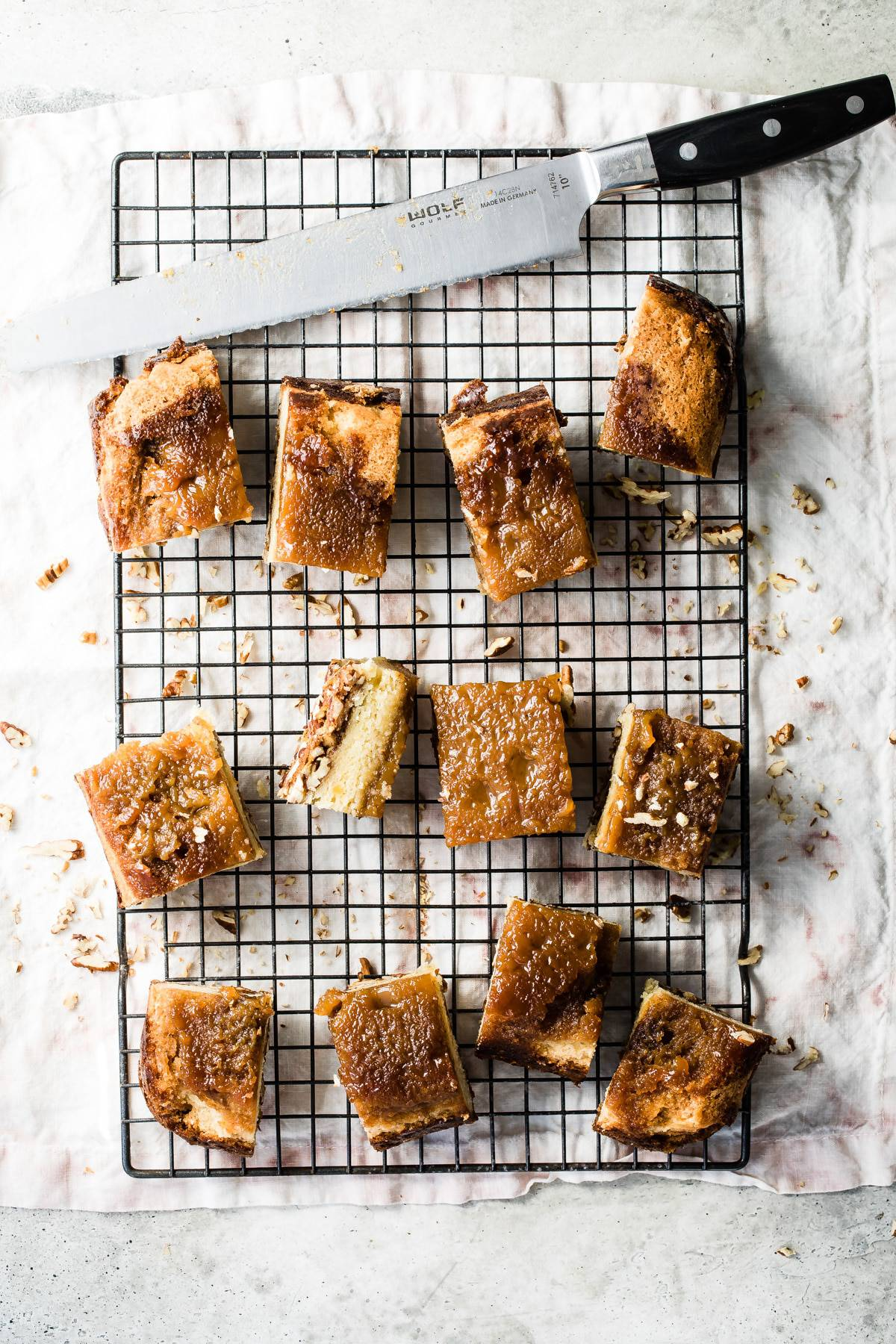 Pecan Pie Bars with a Snickerdoodle Cookie Crust