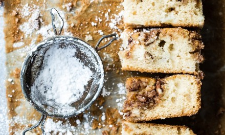 Simple Apple Coffee Cake with Pecans