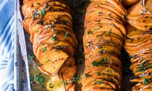 Skewered Roasted Sweet Potatoes