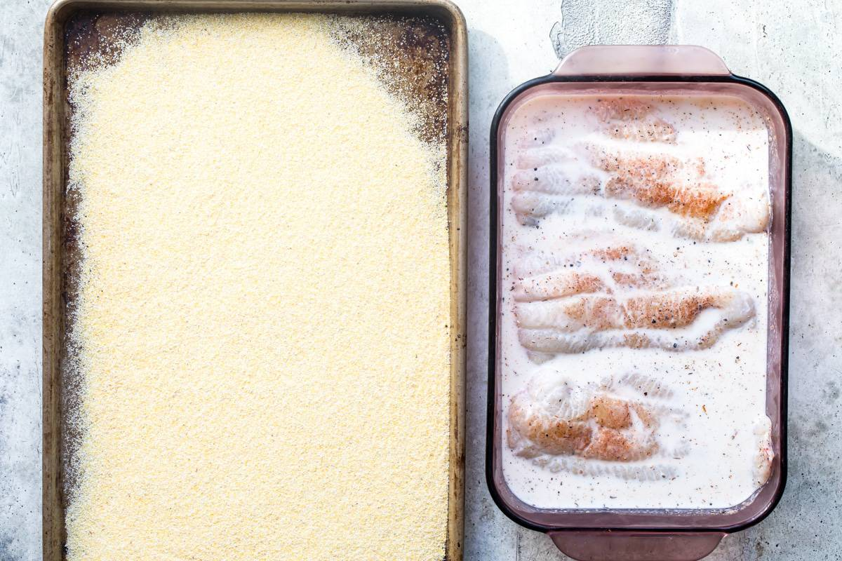 catfish filets in buttermilk