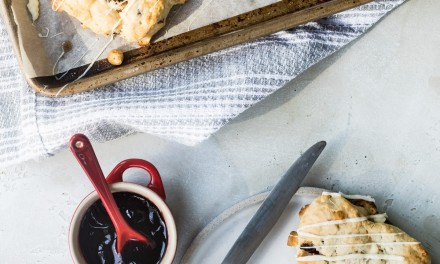 Heart Shaped White Chocolate Cherry Scones
