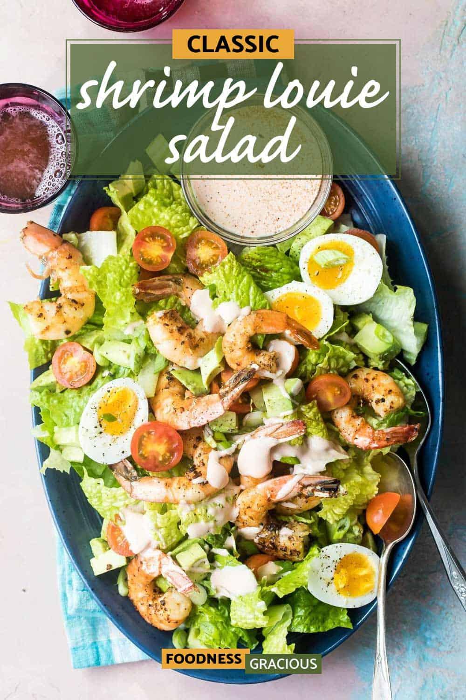 shrimp Louie Salad on a platter