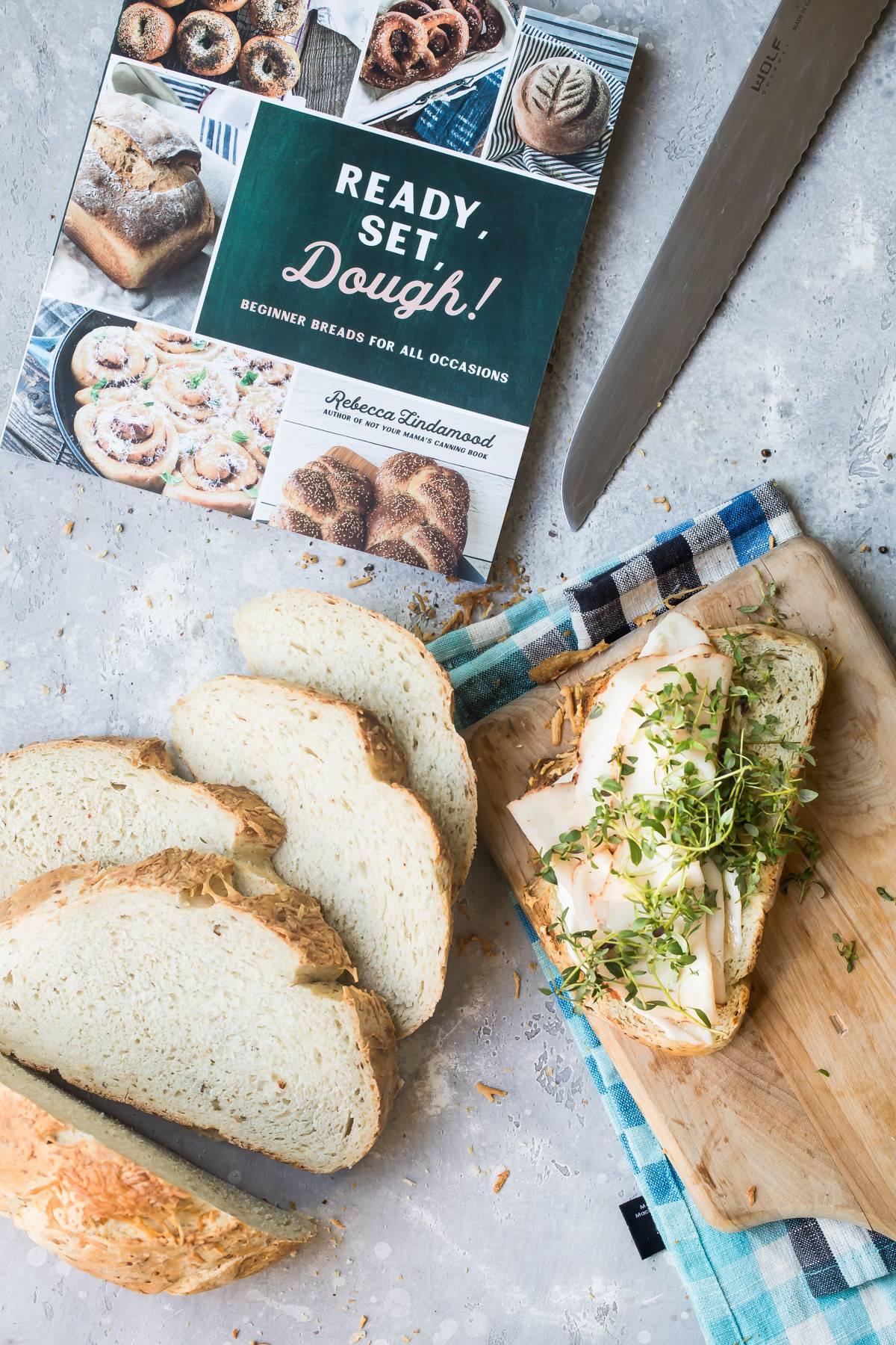 Asiago Herb and Garlic Crusty Bread