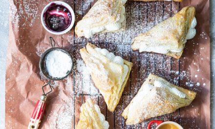 Whipped Cream Filled Fruit Turnovers