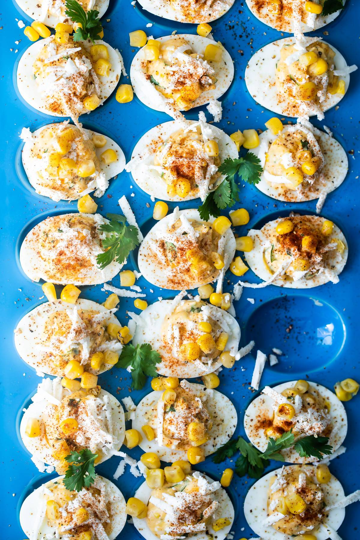 Easy Deviled Eggs Mexican Street Corn Style