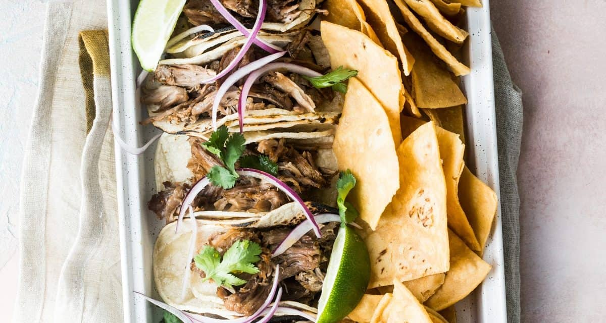 Quick and Easy instant pot carnitas tacos