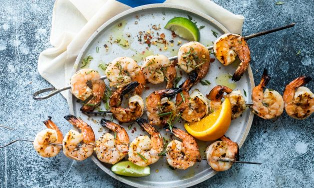 citrus marinated grilled shrimp skewers