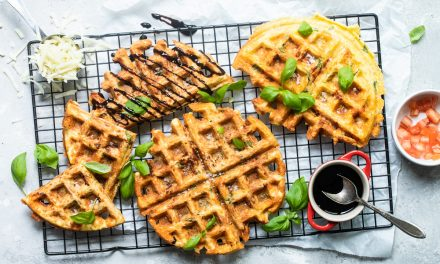Easy keto CAPRESE CHAFFLE RECIPE