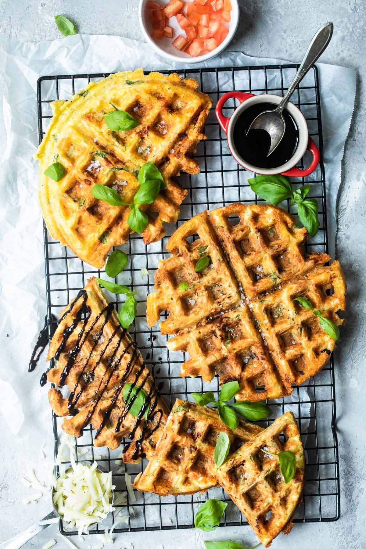 easy keto Chaffle recipe on a wire rack