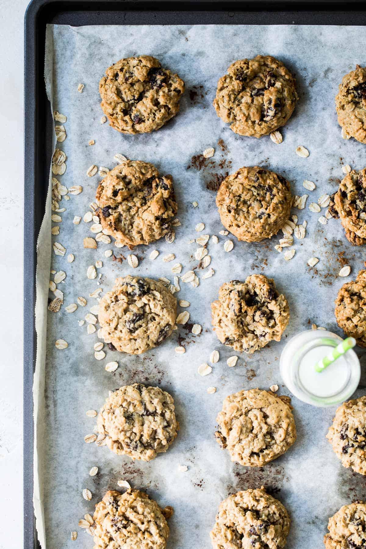 soft baked oatmeal raisin cookies