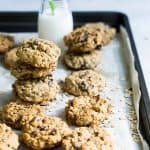 oatmeal raisin cookies with milk