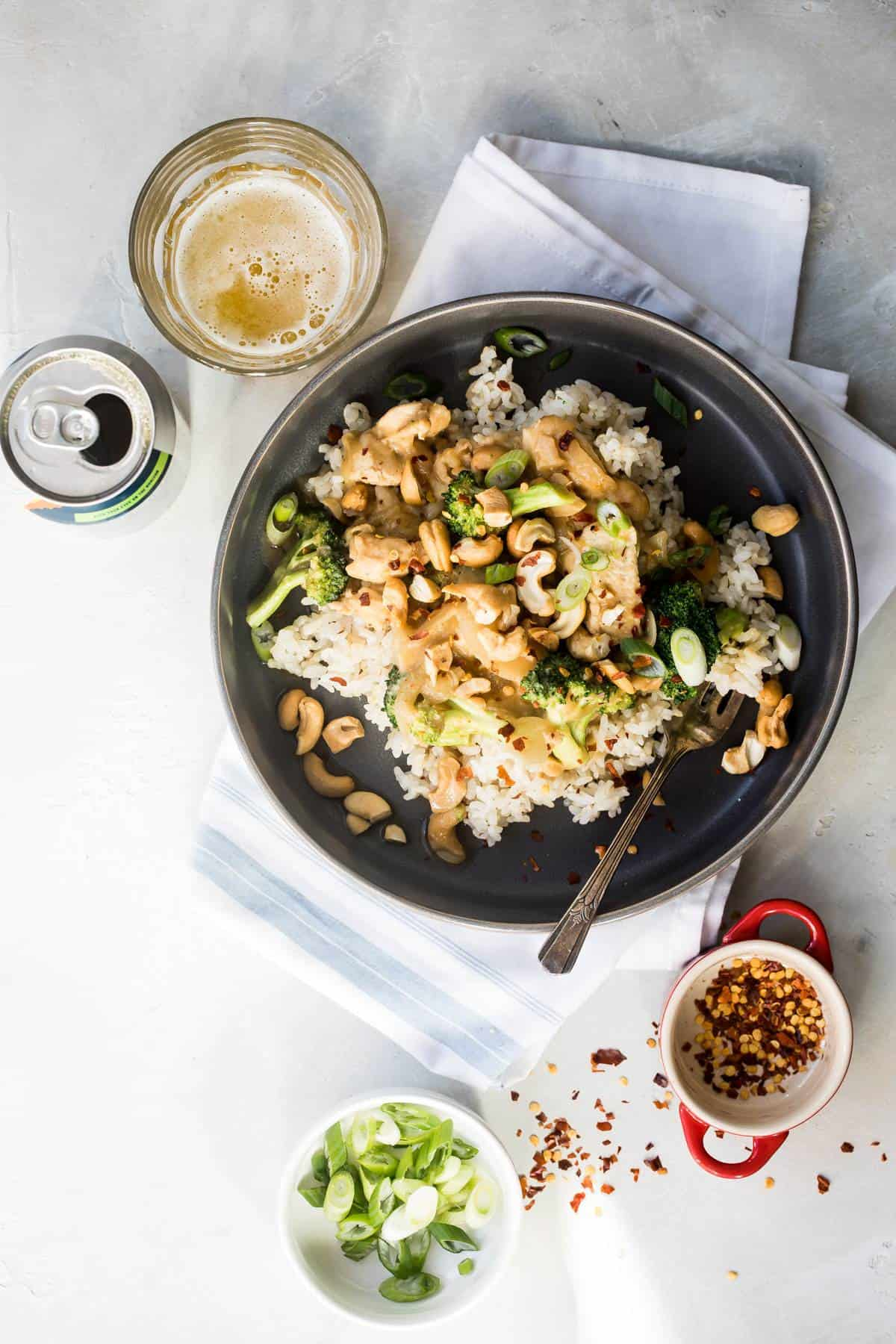 Instant Pot Cashew Chicken and Broccoli