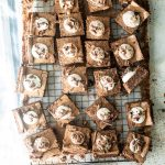 Mississippi Mud Pie bars on a wire rack