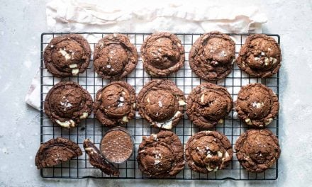 Double Chocolate Cookies with White Chocolate