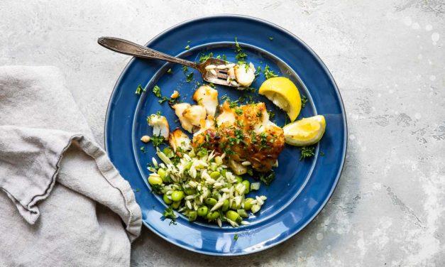 roasted cod with miso glaze