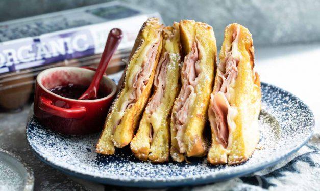 skillet Monte Cristo sandwich