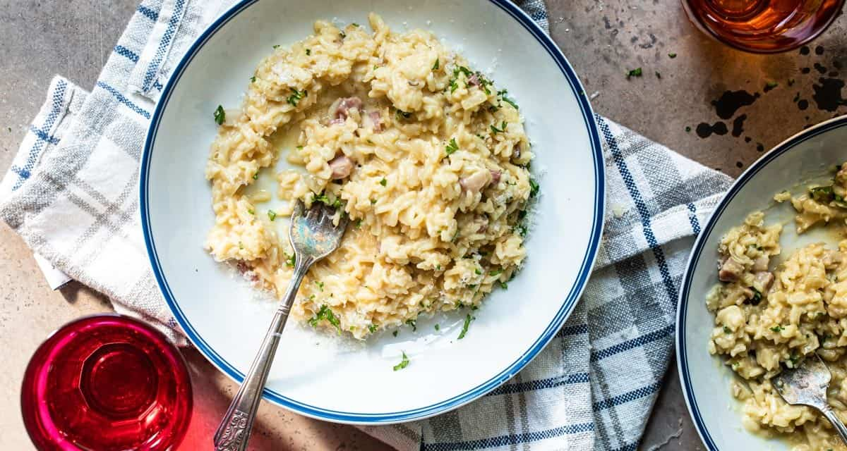 instant pot risotto carbonara