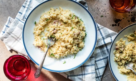 instant pot risotto carbonara