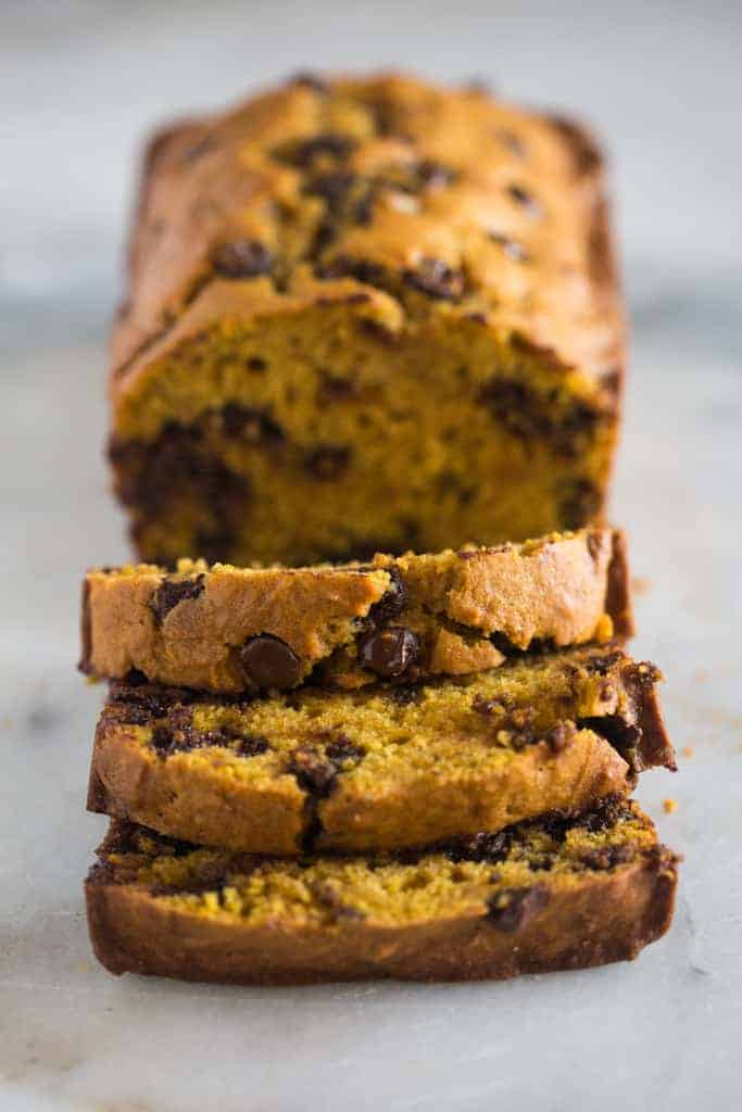 pumpkin bread with chocolate