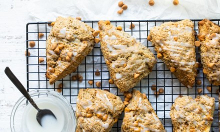 cinnamon scones with butterscotch chips