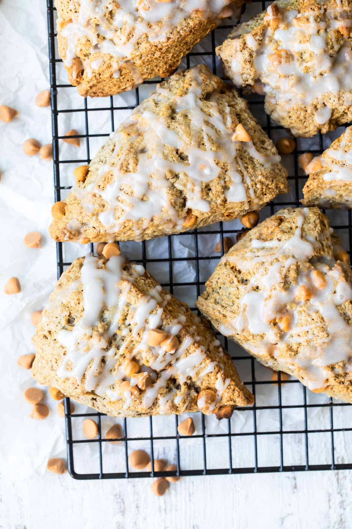 cinnamon scones with icing