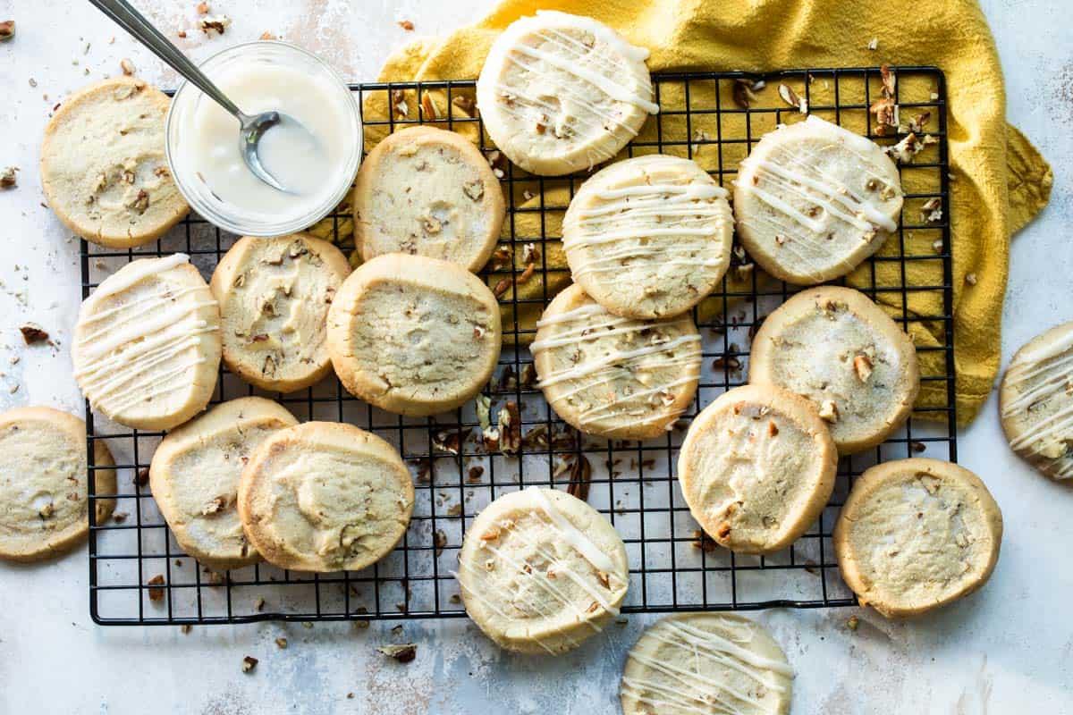 slice and bake Pecan shortbread cookies