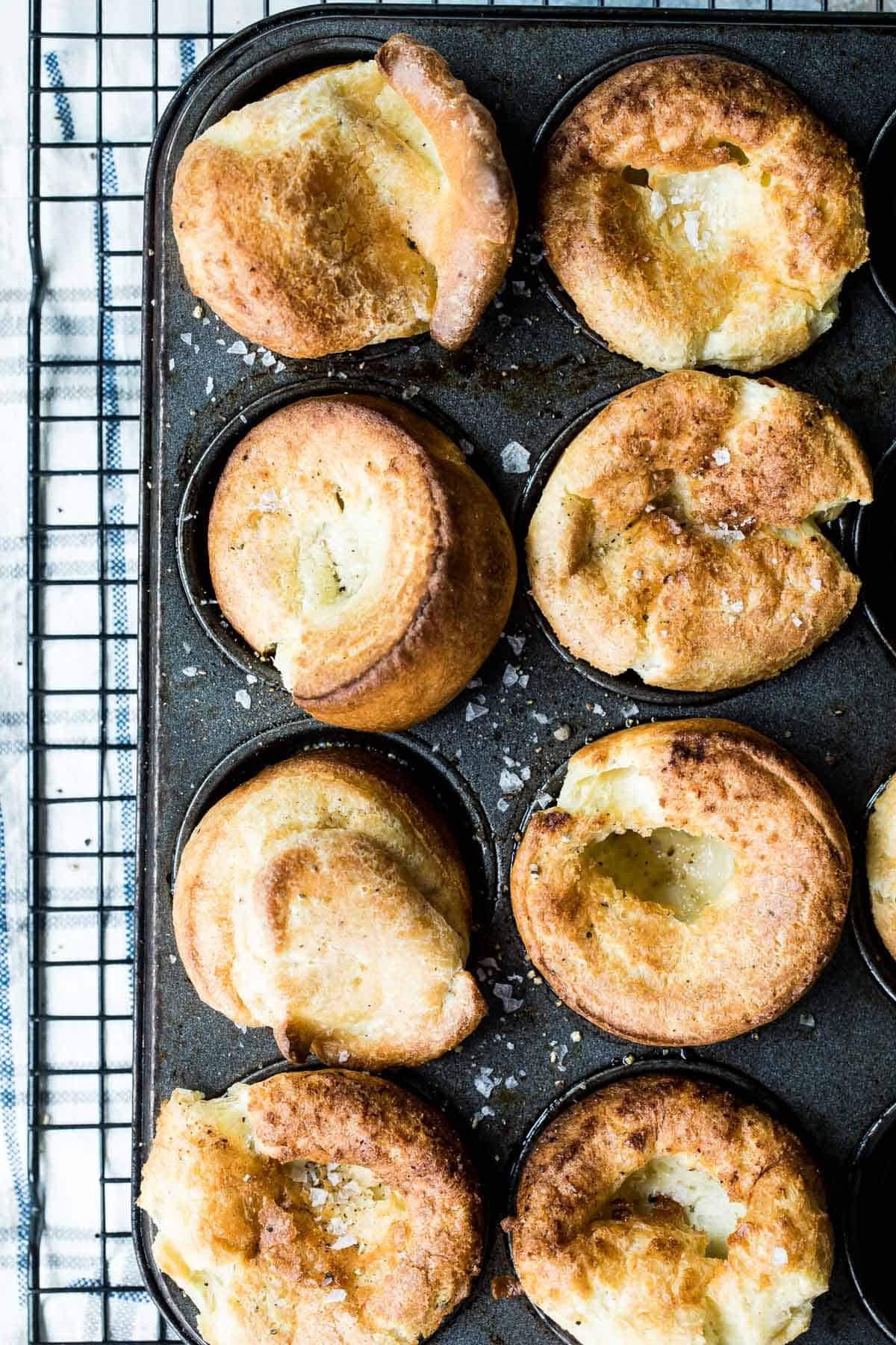 easy popover recipe cooling on a wire rack