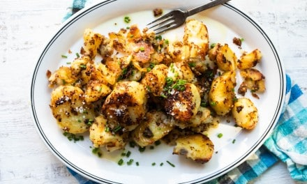 Crispy Roasted Potatoes with Mustard and Horseradish