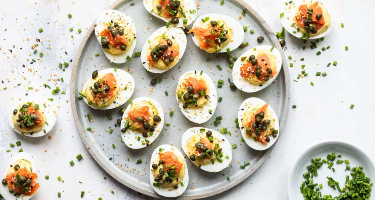 Easy Deviled Eggs with Smoked salmon