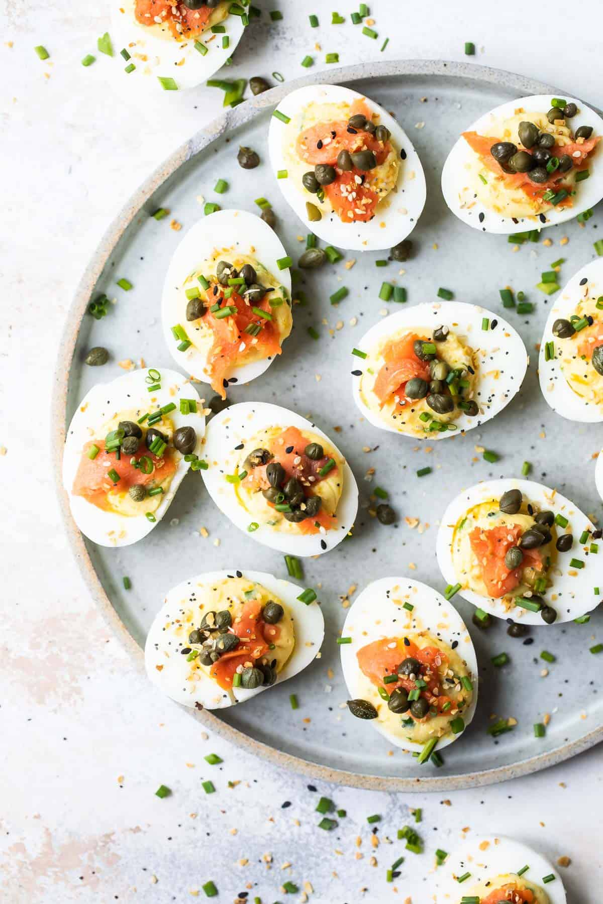deviled eggs recipe with smoked salmon and capers