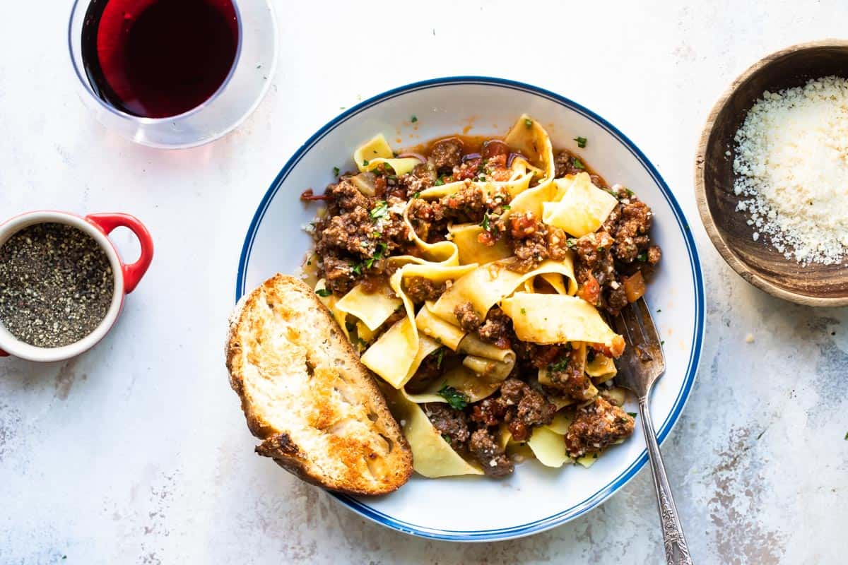 Slow Cooked Beef Ragu Pappardelle
